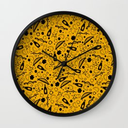 Pittsburgh Parts : Black & Gold Wall Clock