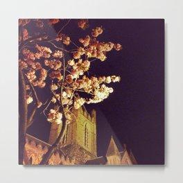 Cherry Blossoms Over Christ Church, Dublin, Ireland Metal Print
