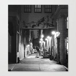 Lights, Alley, Art Canvas Print
