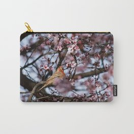 Spring Blossoms - Male House Finch Carry-All Pouch