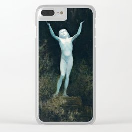 The Apparition by Karl Wilhelm Diefenbach, 1890 Clear iPhone Case