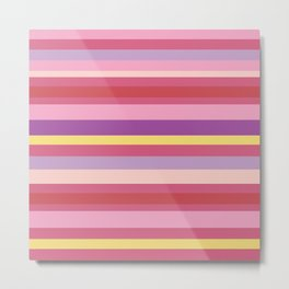Crazy Summer Stripes Metal Print