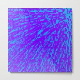 Purple Blue Abstract Metal Print