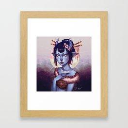 Oni Girl OC Framed Art Print