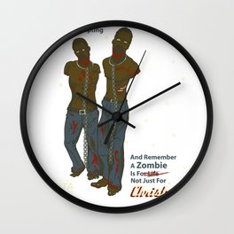 Adopt a Zombie PSA Wall Clock