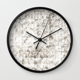 Ink Stitch: Cream Howlite Wall Clock