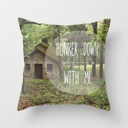 Hunker Down Throw Pillow