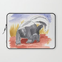 Skunk Mother and Baby Laptop Sleeve
