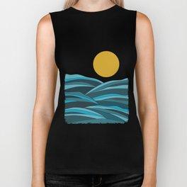 The ocean, waves and sun Biker Tank