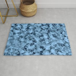 Geometric Stacks Mini Demin Blue Rug
