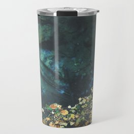 Leaf rug on water Travel Mug