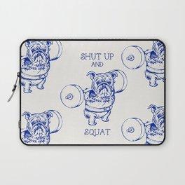 English Bulldog Squat Laptop Sleeve