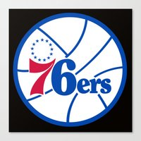 nba Canvas Prints featuring NBA - 76ers by Katieb1013