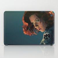 black widow iPad Cases featuring Black Widow by Chelsea Lindsay