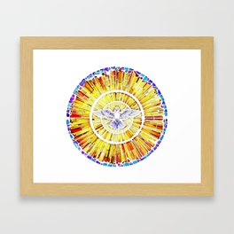 Holy Spirit in Christianity Catholic Church Trinity Sacred, God, Jesus, Bible Framed Art Print