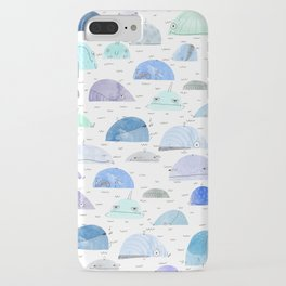 Whale party iPhone Case