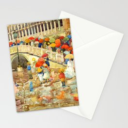 """Maurice Prendergast """"Umbrellas in the Rain"""" Stationery Cards"""