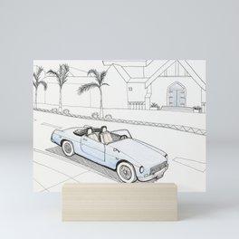 The car in Santa Barbara Mini Art Print