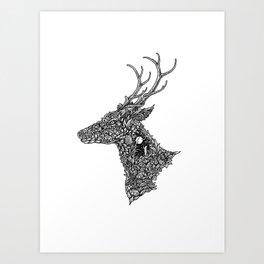 Deer of the Midnite Story Art Print