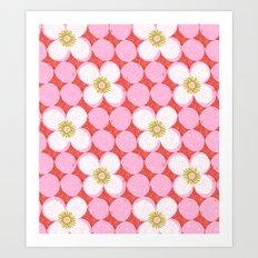 dotty flowers Art Print