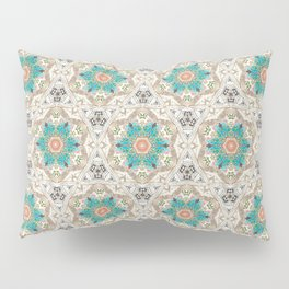 Charcoal Flowers Pillow Sham