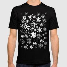 Snowflake Pond Black MEDIUM Mens Fitted Tee