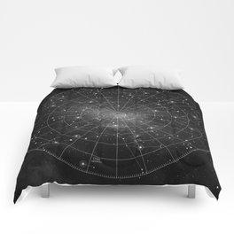 Constellation Star Map (B&W) Comforters