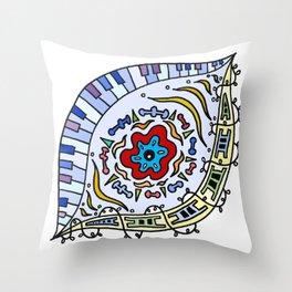 Pop Eye (Red) Throw Pillow