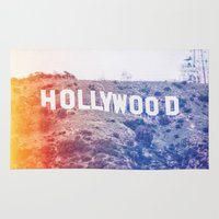 hollywood Area & Throw Rugs featuring Hollywood by Laura Ruth