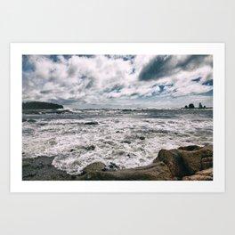 Stormy seas, Maine Art Print