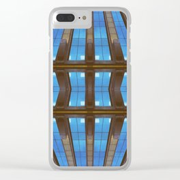 Bended Buildings Clear iPhone Case