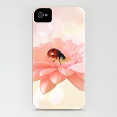 Lady on Pink Slim Case iPhone (4, 4s)
