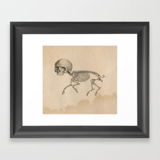 Chupacabra old illustration Framed Art Print