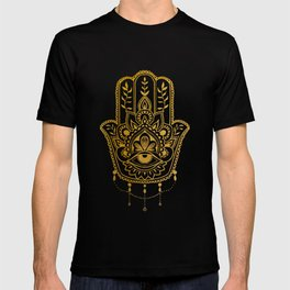 Golden Khamsa Mandala T-shirt