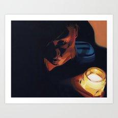 Candle girl Art Print