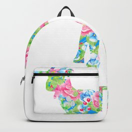 Goat Mom Floral Pattern Goats Backpack