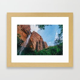 free fall Framed Art Print