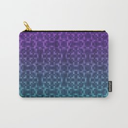 Pixel Patterns Green/Purple Carry-All Pouch