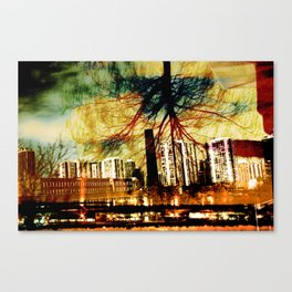 Darkness Tree - Double Exposure Canvas Print