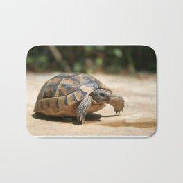 Portrait of a Young Wild Tortoise Bath Mat