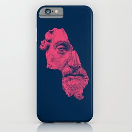 MARCUS AURELIUS ANTONINUS AUGUSTUS / prussian blue / vivid red iPhone Case