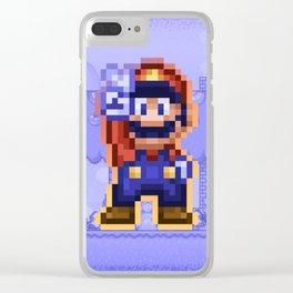Peace Mario Clear iPhone Case