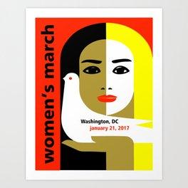 Women's March On Washington 2017 Art Print