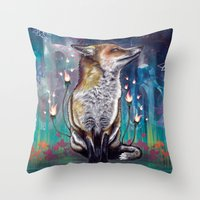 justin timberlake Throw Pillows featuring There is a Light by Mat Miller