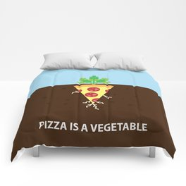 Pizza is a Vegetable Comforters