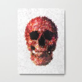 Redskull illustration Metal Print