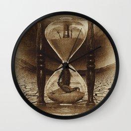 Sands of Time ... Memento Mori - Sepia Wall Clock
