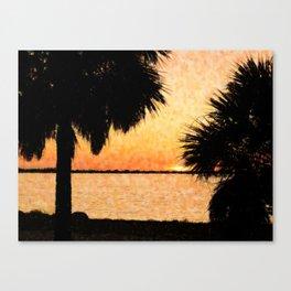 Palms View Of Sanibel Canvas Print