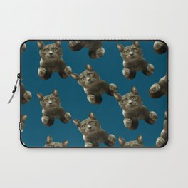 night sky skydiving funny flying cat Laptop Sleeve