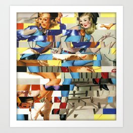 Glitch Pin-Up Redux: Yasmin & Yardley Art Print
